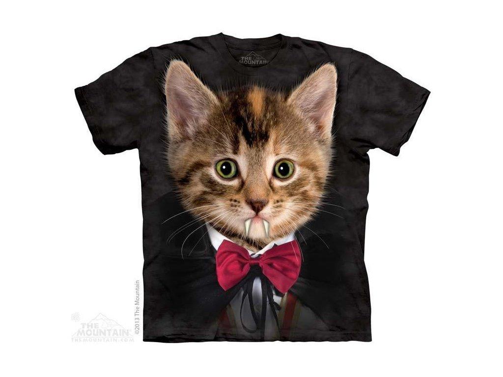 Tričko s potiskem kočka úpír