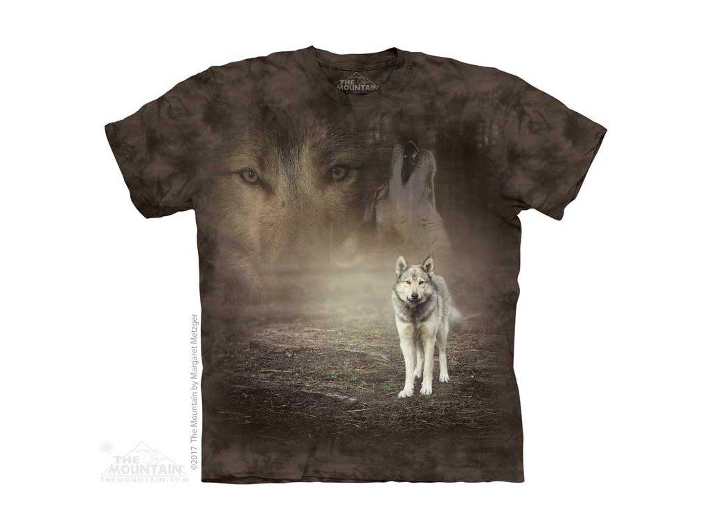 Tričko Bílý vlk v lese