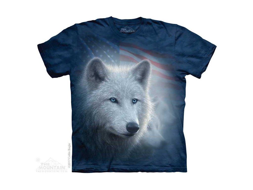 Tričko Patriotický Bílý Vlk
