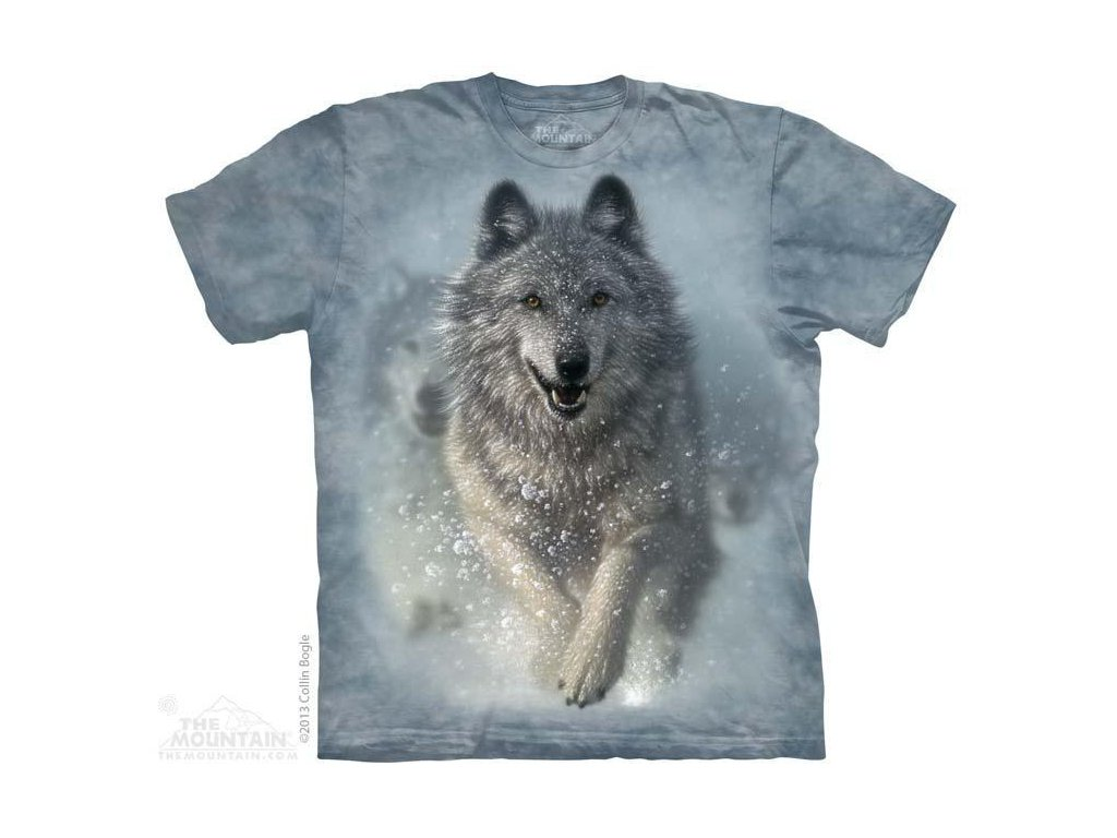 Tričko s potiskem vlčí  sněžný pluh - 2017