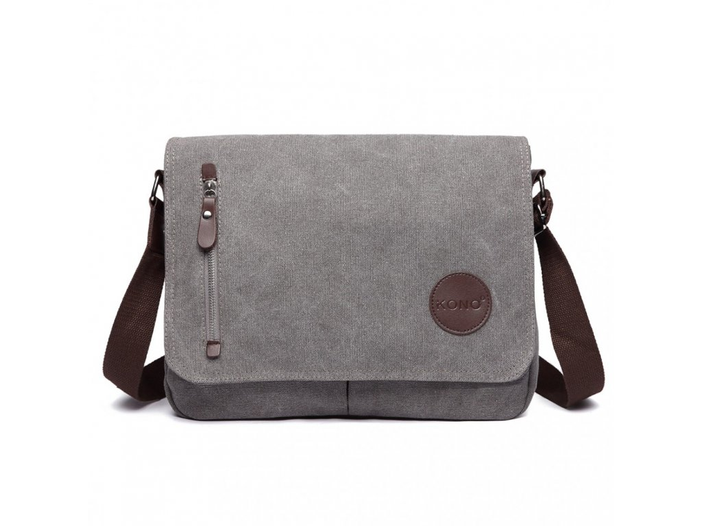 Pánská crossbody taška - šedá