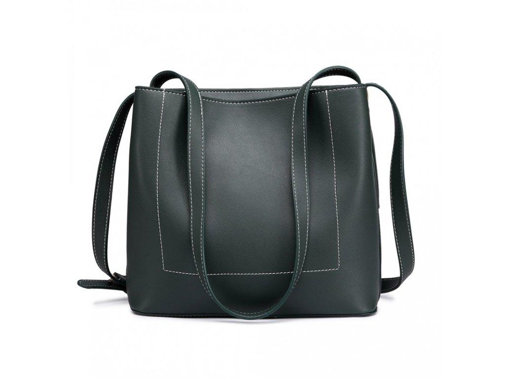 Praktická kabelka na rameno - tmavě zelená