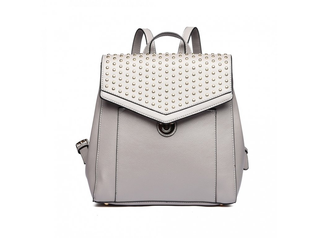 Dizajnový luxusní batoh - šedý