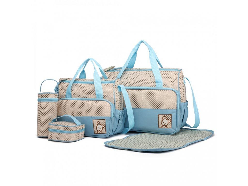 Sada Mateřských tašek a doplňků - 5 kusů - Modrá