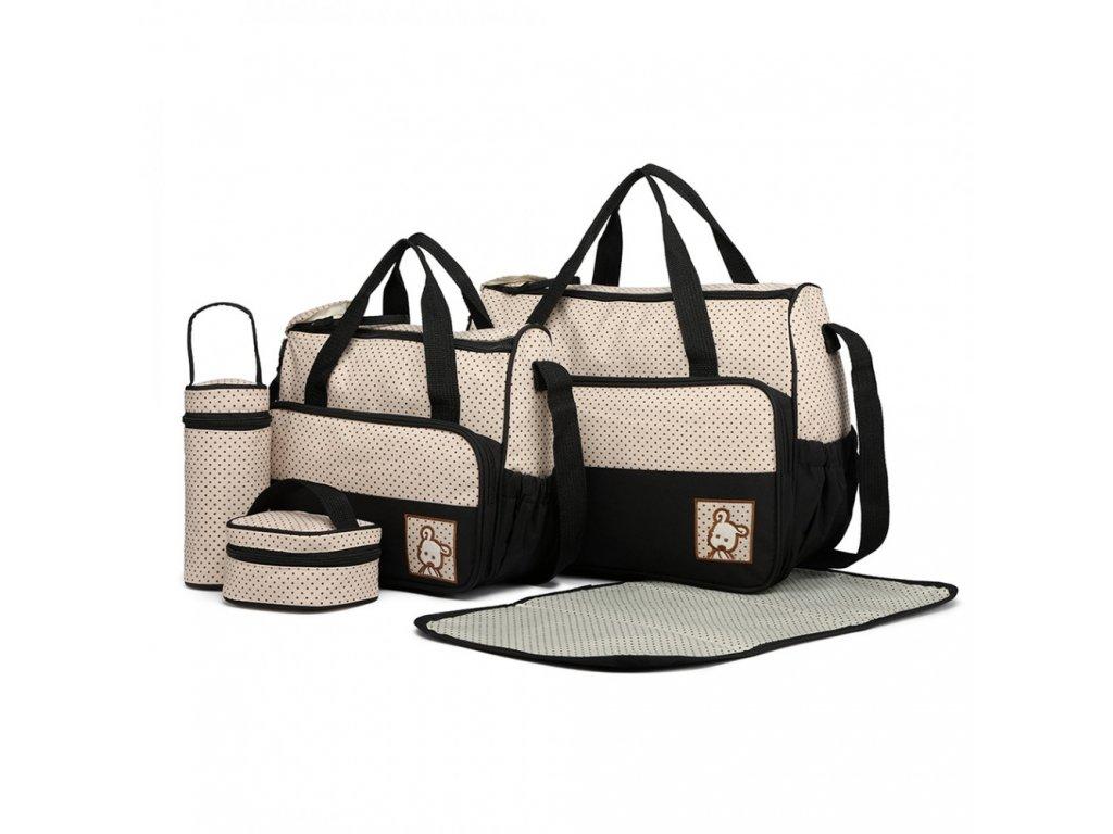 Sada Mateřských tašek a doplňků - 5 kusů - Černá