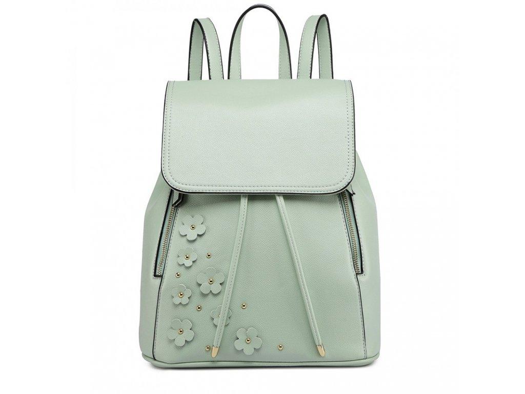 Elegantní batoh - Romantic - zelený