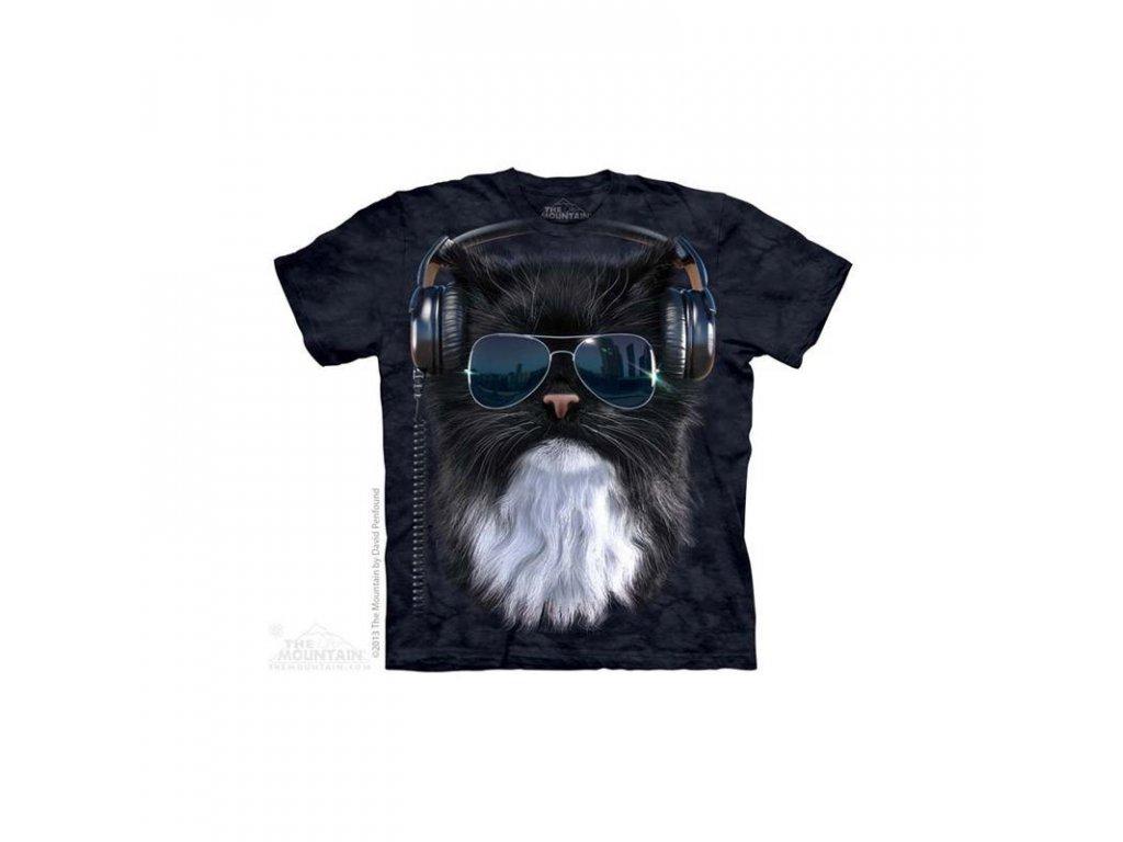 Tričko Kočka DJ - Dětské