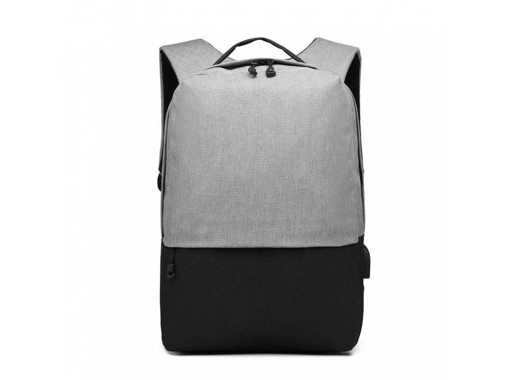 Chytrý batoh s USB portem- Knap - šedo-černý