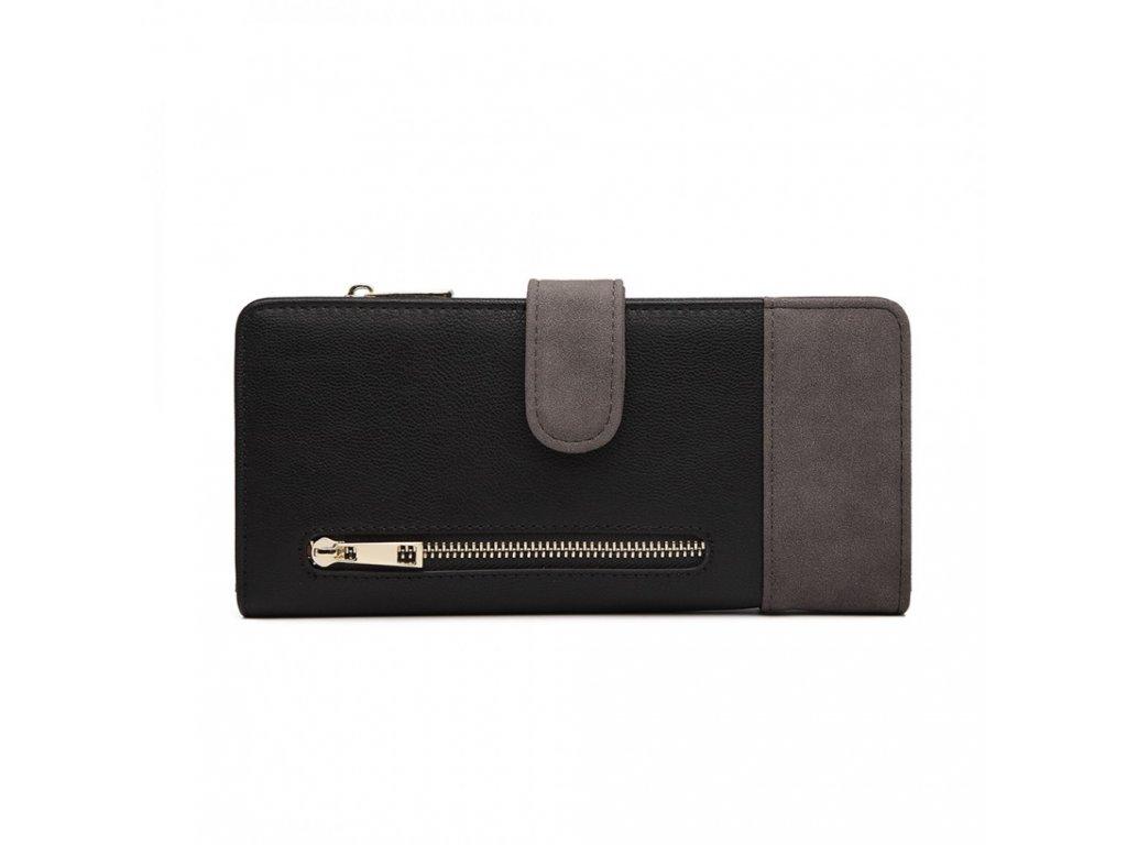 Dámská peněženka Poppy - černo-šedá