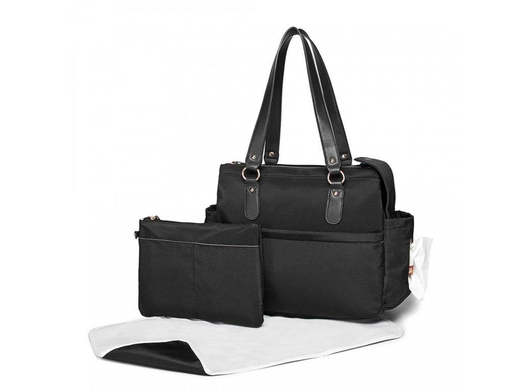 Přebalovací taška Amanda - Set 3 kusů - černá