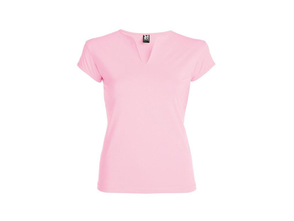 Dámské Tričko Světle růžové