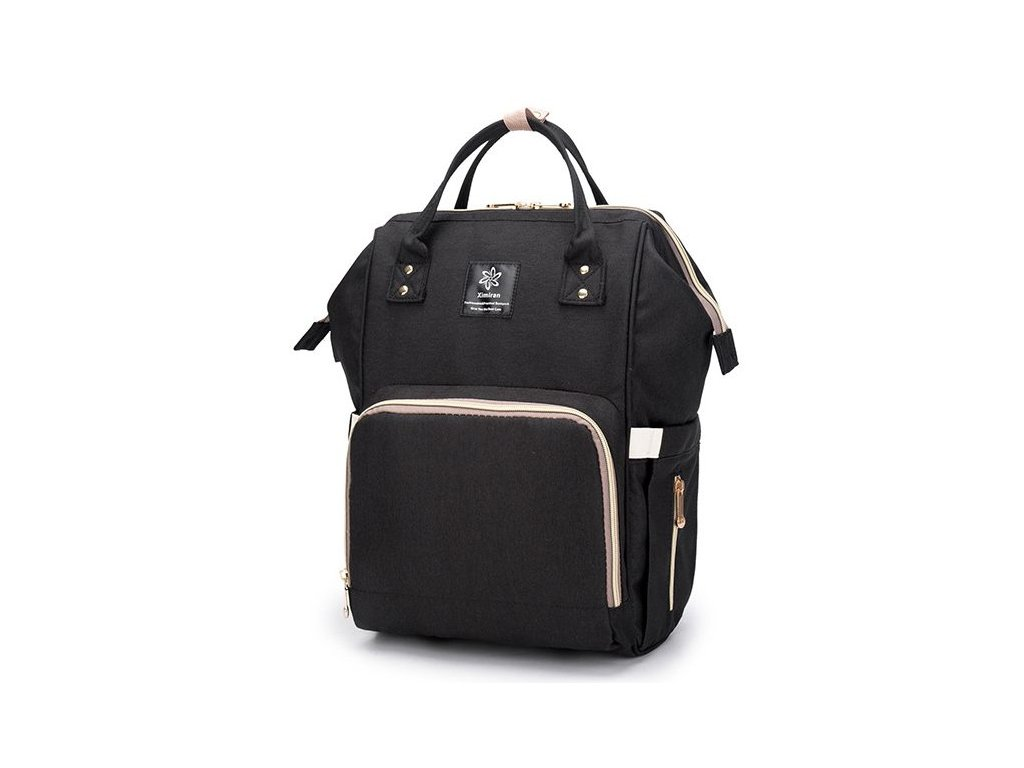 1f3c6645294 Multifunkční batoh na kočárek se zabudovaným ohřívačem a USB portem - černý