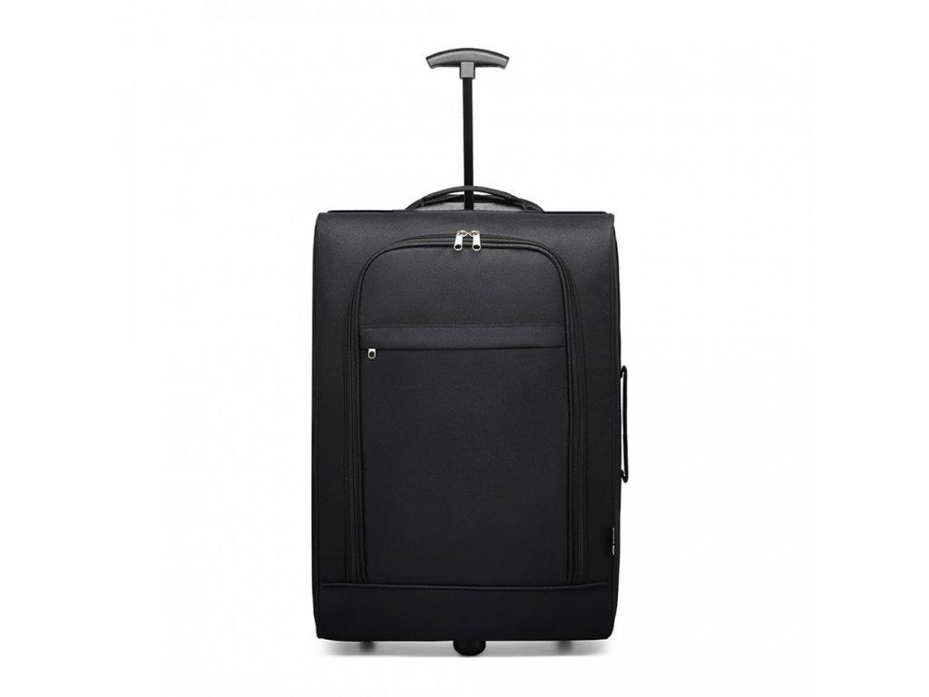 Cestovní příruční kufr na kolečkách- černý