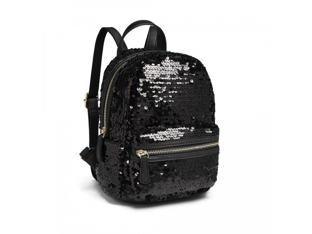 4488bab981a Flitrový designový batůžek - černý · Flitrový designový batůžek - černý ...