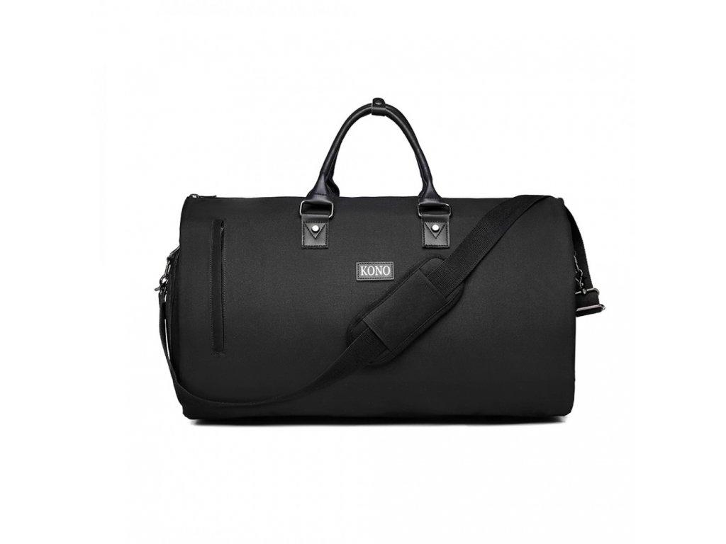 Cestovní skládací taška na oblek - černá
