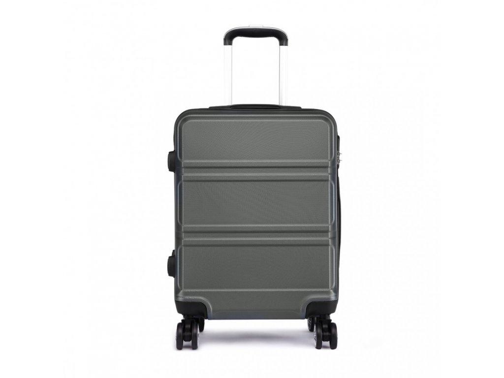 Kabinové zavazadlo na kolečkách - šedá