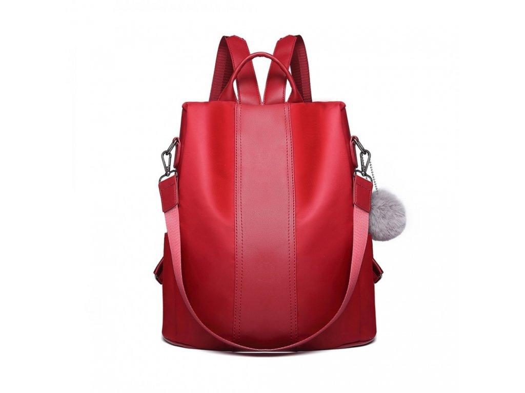 Dámský elegantní batoh Limba - burgundská červená