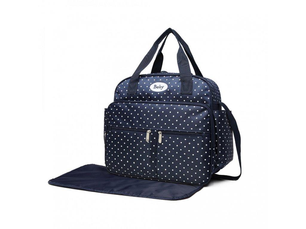 Přebalovací taška puntíkatá - modrá