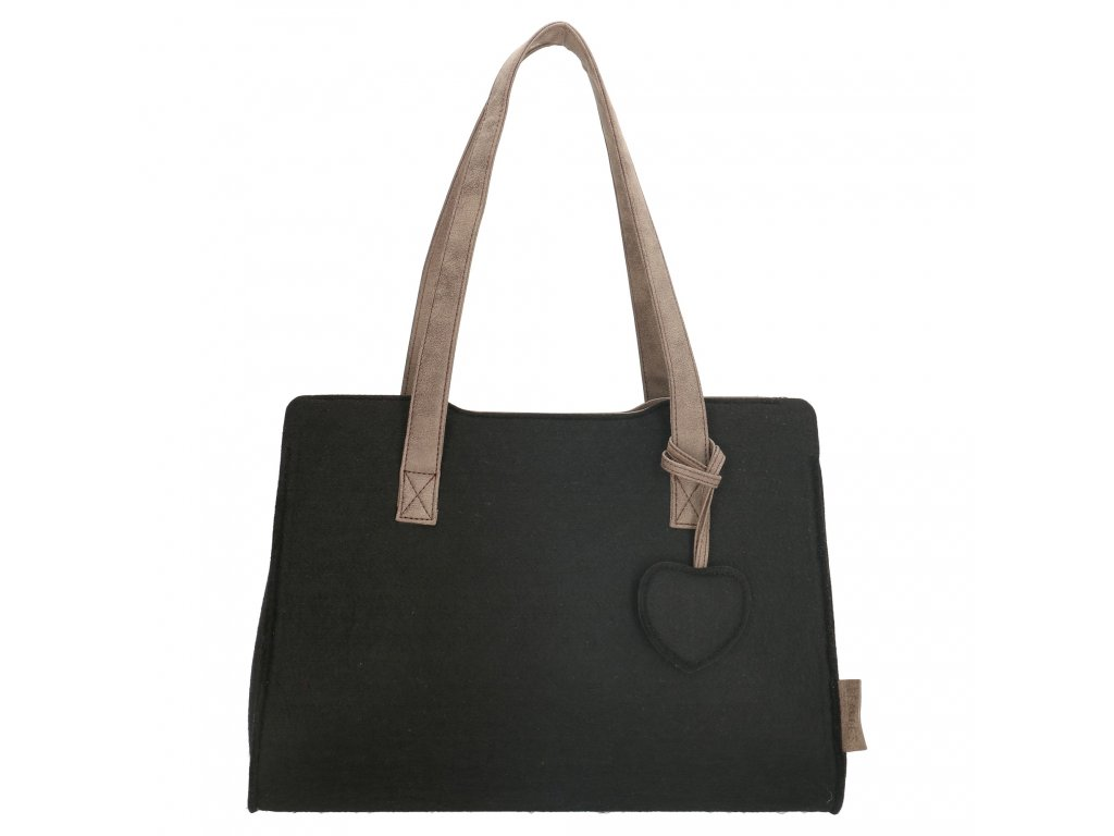 Filcová taška na rameno Beagles - černá