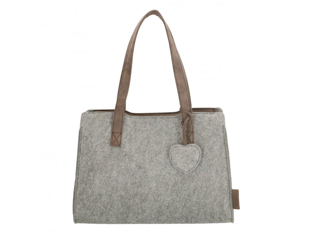 Filcová taška na rameno Beagles - šedá