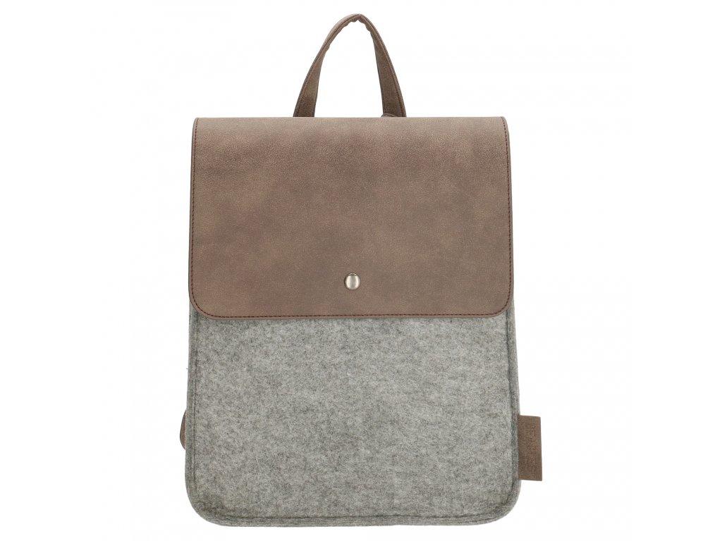 Filcový batoh na záda - Beagles - šedý