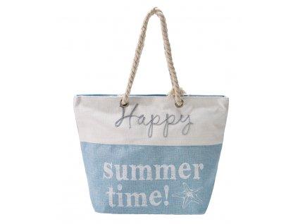 Plážová Taška Happy Summer Time - Modrá