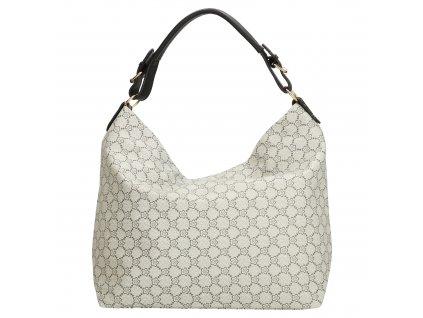 Velká elegantní taška - shopper - černo šedá
