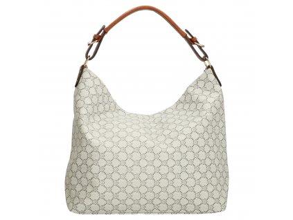 Velká elegantní taška - shopper - hnědo šedá