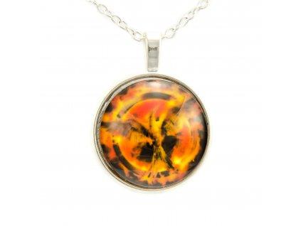 Hunger Games náhrdelník Reprodrozd - Mockingjay kabošon