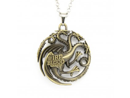 Hra o trůny - Game of Thrones náhrdelník - znak Targaryenů