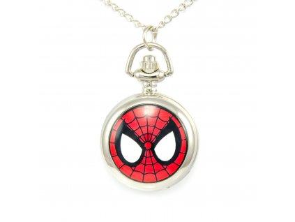 Náhrdelník kapesní hodinky - Spiderman