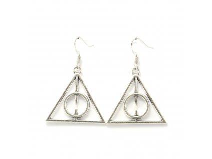 Harry Potter relikvie smrti náušnice - stříbrné