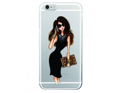 Kryt na mobil Iphone - Slečna v černých šatách