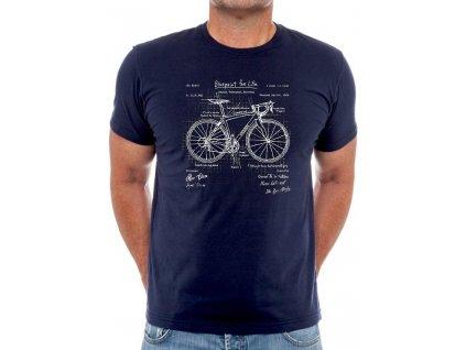 Tričko BluePrint Bike (Plány Kola)