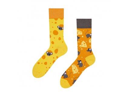 Veselé ponožky Sýr