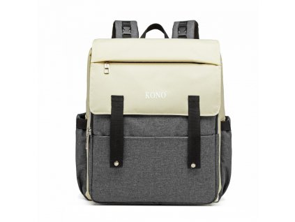 Multifunkční MAMA batoh na kočárek se zabudovaným ohřívačem a USB portem - šedý