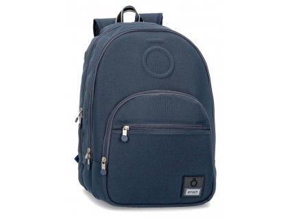 Batoh dvoukomorový Enso Basic - modrý