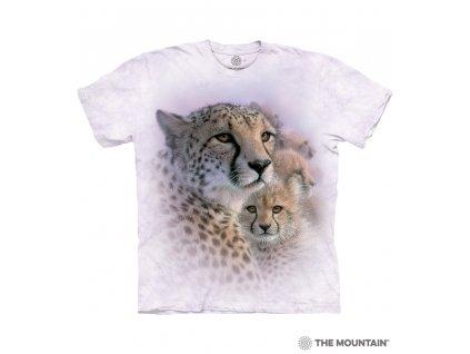Dětské bílé tričko s potiskem malých leopardů