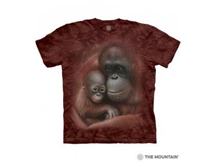 Dětské tričko s potiskem mámy a mláďata šimpanze.