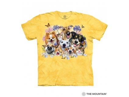 Dětské Tričko Zvířecí selfie - Veselí psi a kočky