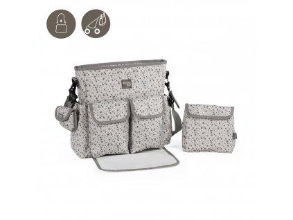 Přebalovací taška Walking Mum Stars Be Grey