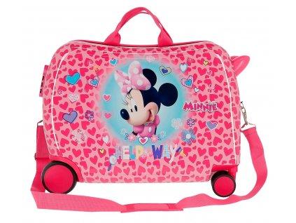 Dětský kufřík na kolečkách - odražedlo - Minnie Help Way