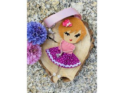 Handmade Filcový přívěsek na kabelku Littletinka Daniela