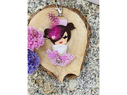 Handmade Filcový přívěsek na kabelku Littletinka Lola