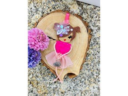 Handmade Filcový přívěsek na kabelku Littletinka Karolína