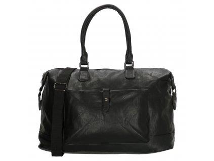 Cestovní taška Kudu z umělé kůže - černá
