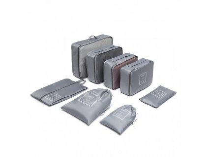 8 kusů cestovních organizérů do kufru - šedá