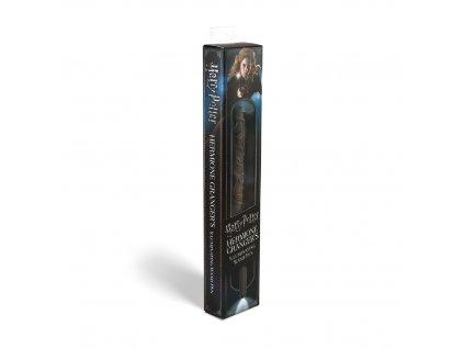 Hermiona Grangerová kouzelnická svítící hůlka a pero  - Harry Potter