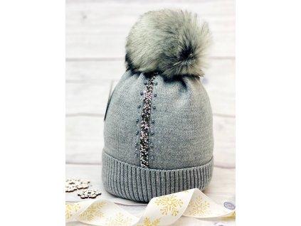 Dámská zimní čepice Evita - tmavě šedá
