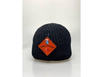 Pánská tmavě šedá zimní čepice - CAPS SYSTEM